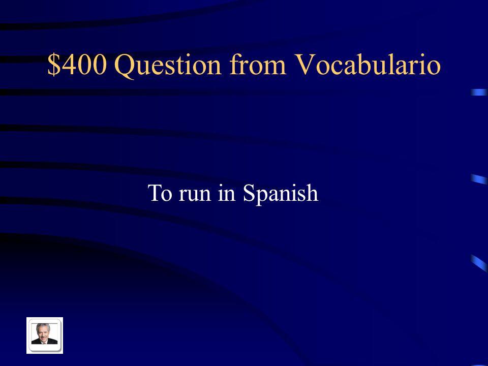 $300 Answer from Vocabulario Trabajar