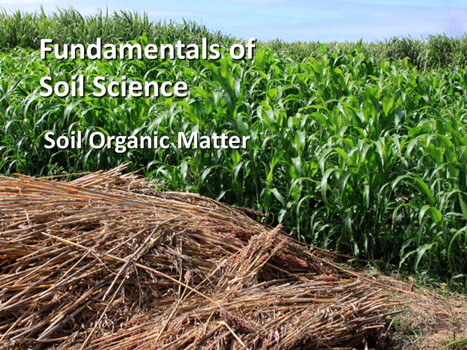 Fundamentals of Soil Science Soil Organic Matter
