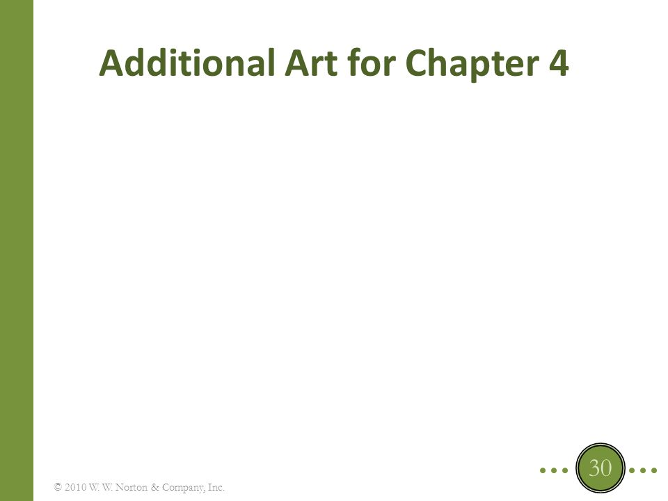 Additional Art for Chapter 4 © 2010 W. W. Norton & Company, Inc. 30