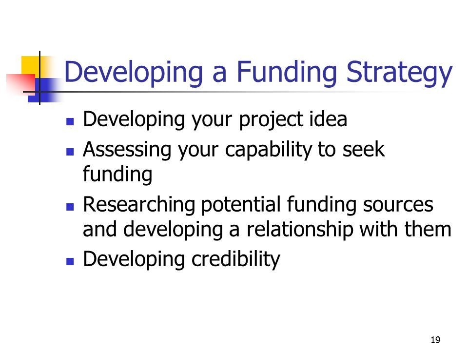 20 Developing Your Project Idea What new programs are you planning for the next two to three years.