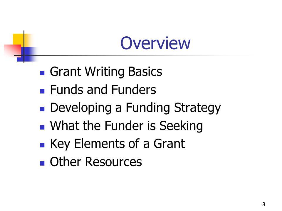 4 Grant Writing Basics