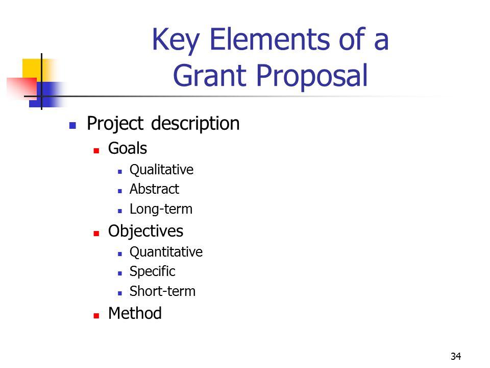 35 Key Elements of a Proposal Budget formats Line-item budget Budget narrative Budget components Salaries Fringe benefits Supplies and materials Equipment