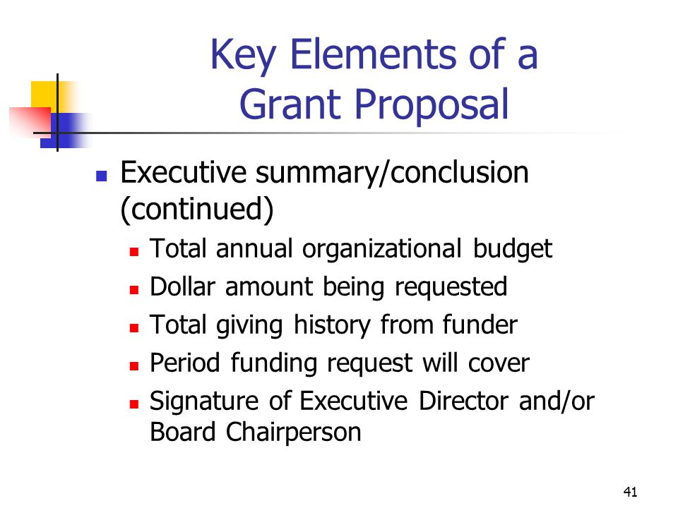 42 Key Elements of a Grant Proposal Why Proposals Fail Seeing the Grant Proposal Through the Reviewer's Eyes Grant Writing Tips