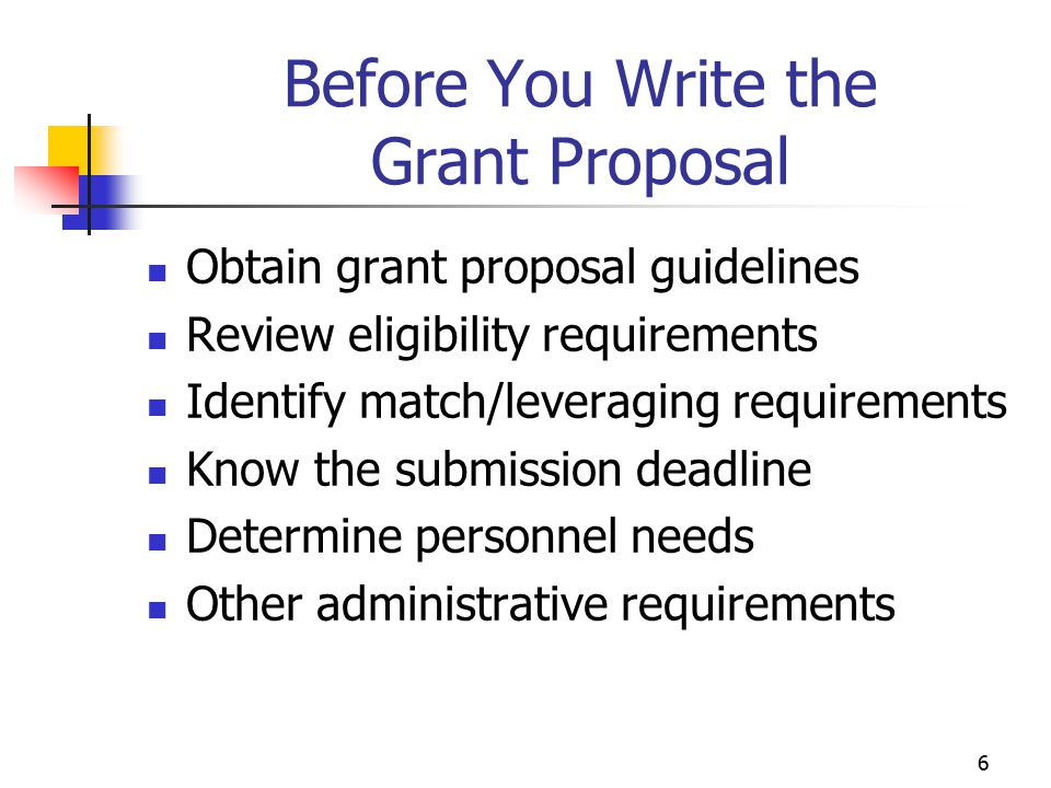 7 Other Important Points Supporting materials Letters of endorsement/support Résumés Exhibit charts/tables Signatures Submission format Delivery requirements
