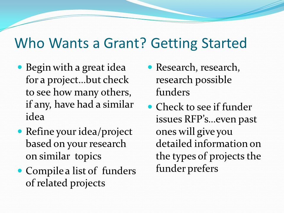 Who Wants a Grant.