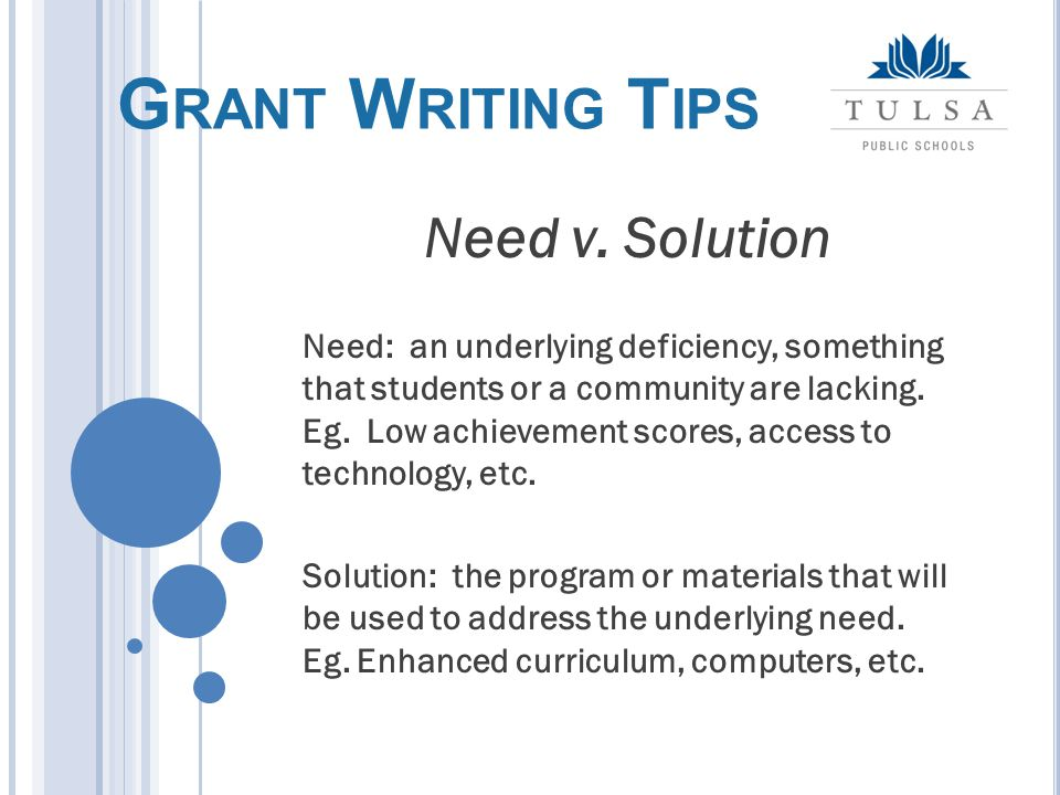 TPS Grant Development OfficeTPS Grant Development Office – contact for free grant writing workshops (basic and advanced) The Eighth Floor The Eighth Floor – check the schedule for free grant writing courses (basic and advanced) eHow Grants For Teachers Grant Writing for Dummies SchoolGrants Non-Profit Guides Grant Writing Resources G RANT W RITING T IPS