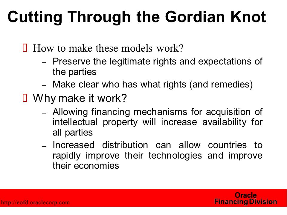 Cutting Through the Gordian Knot  How to make these models work.