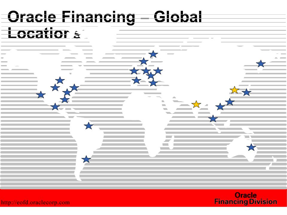 Oracle Financing – Global Locations