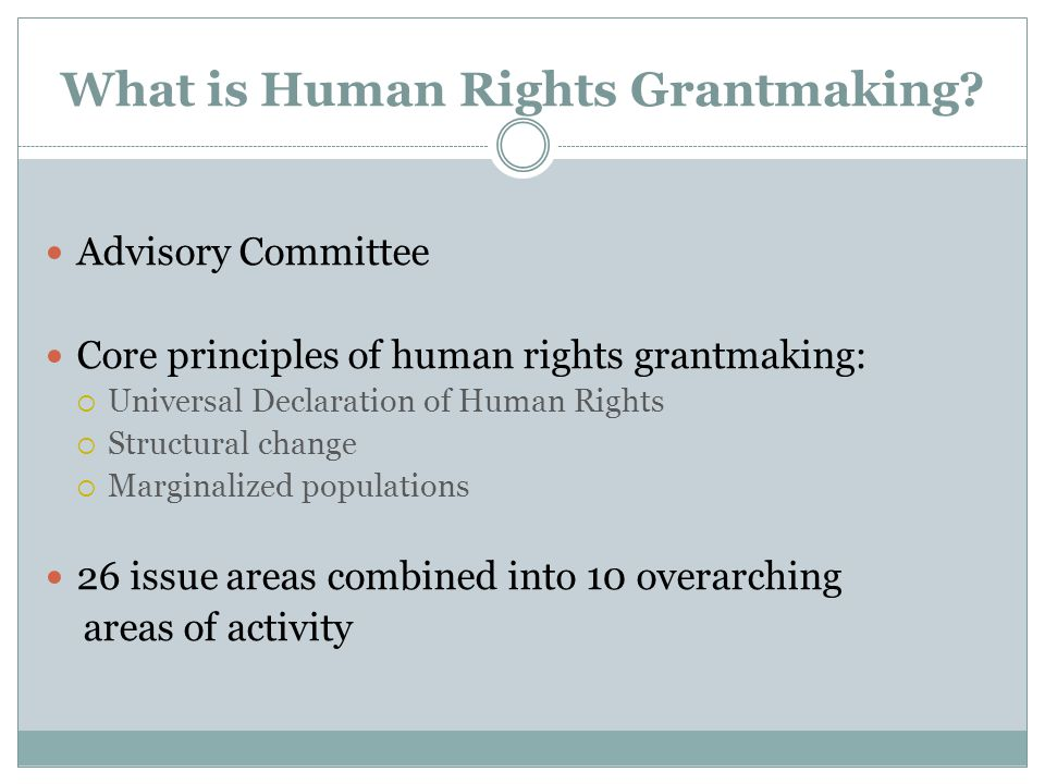 What is Human Rights Grantmaking.