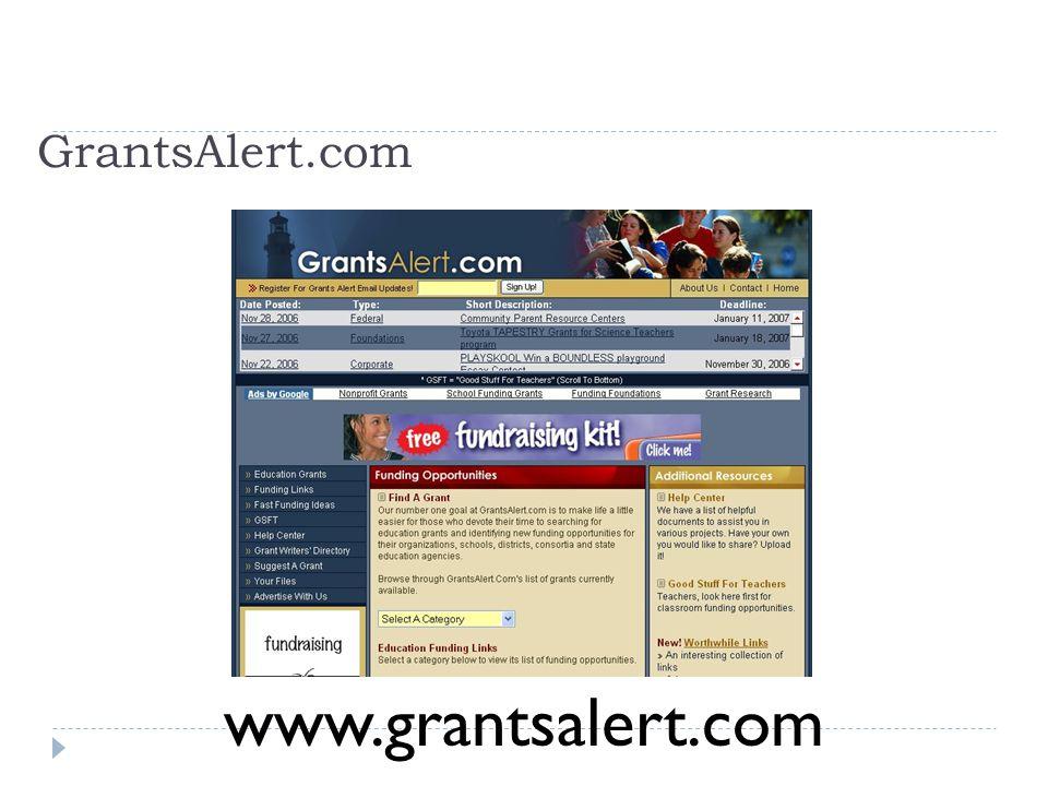 GrantsAlert.com www.grantsalert.com