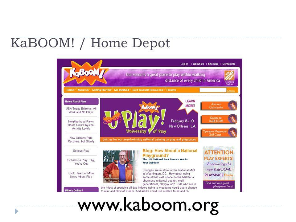 KaBOOM! / Home Depot www.kaboom.org
