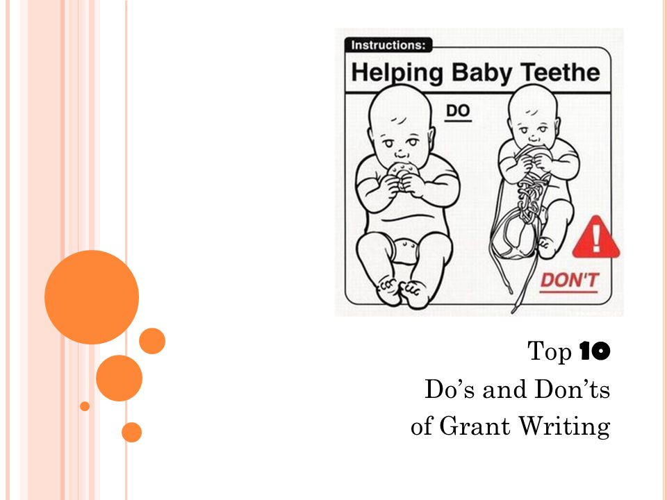 Top 10 Do's and Don'ts of Grant Writing