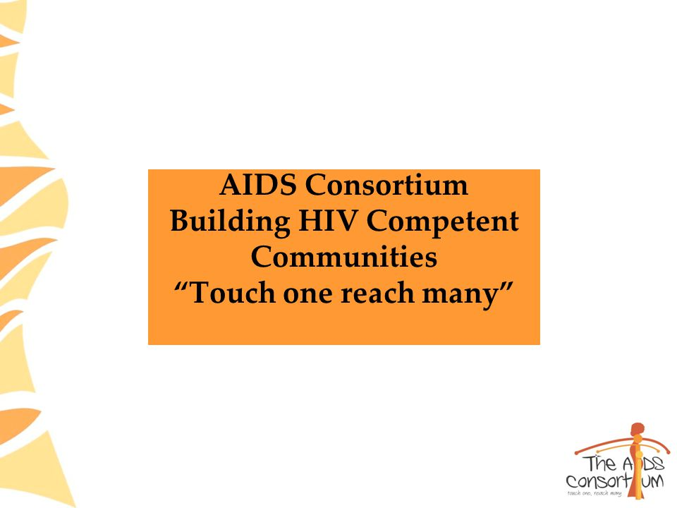AIDS Consortium Building HIV Competent Communities Touch one reach many