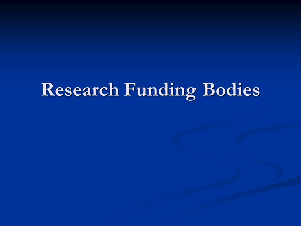 Research Funding Bodies