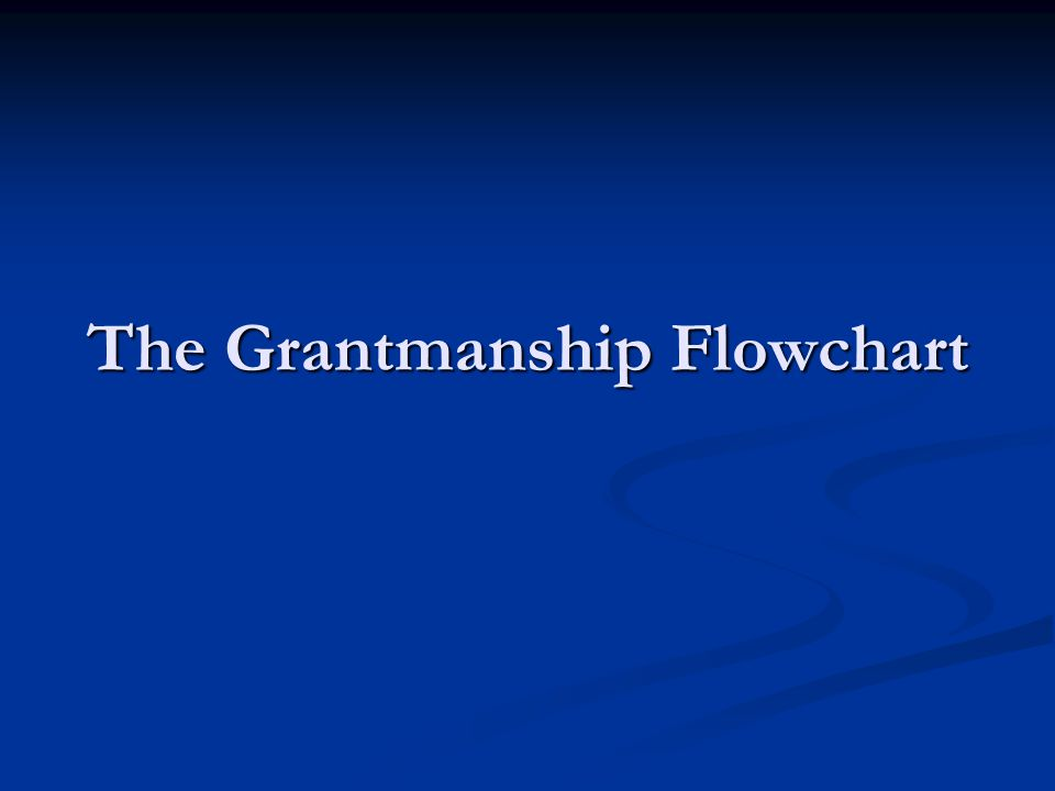 The Grantmanship Flowchart