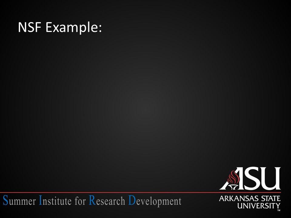 NSF Example:
