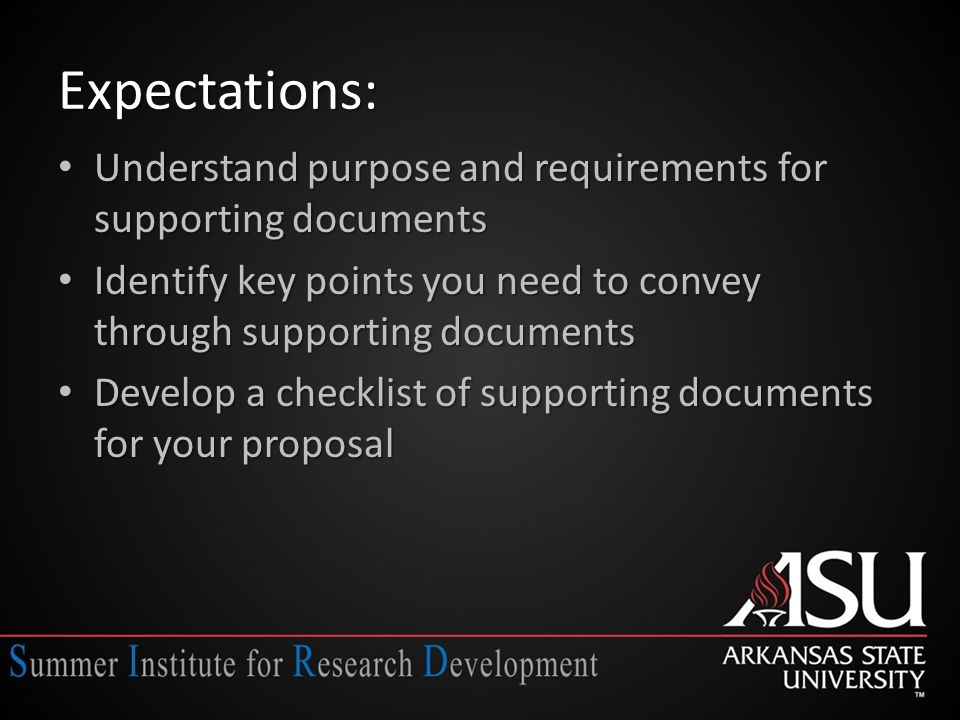 Deliverables-Today List of documents required and permitted for your proposal List of documents required and permitted for your proposal Matrix of key strengths/weaknesses; novel or unique attributes/approaches; and commitments and support required/desired Matrix of key strengths/weaknesses; novel or unique attributes/approaches; and commitments and support required/desired Preliminary work on biosketch Preliminary work on biosketch