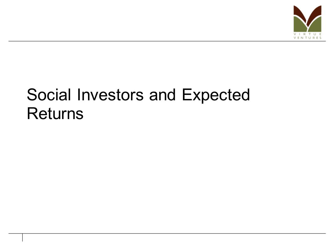 Social Investors and Expected Returns