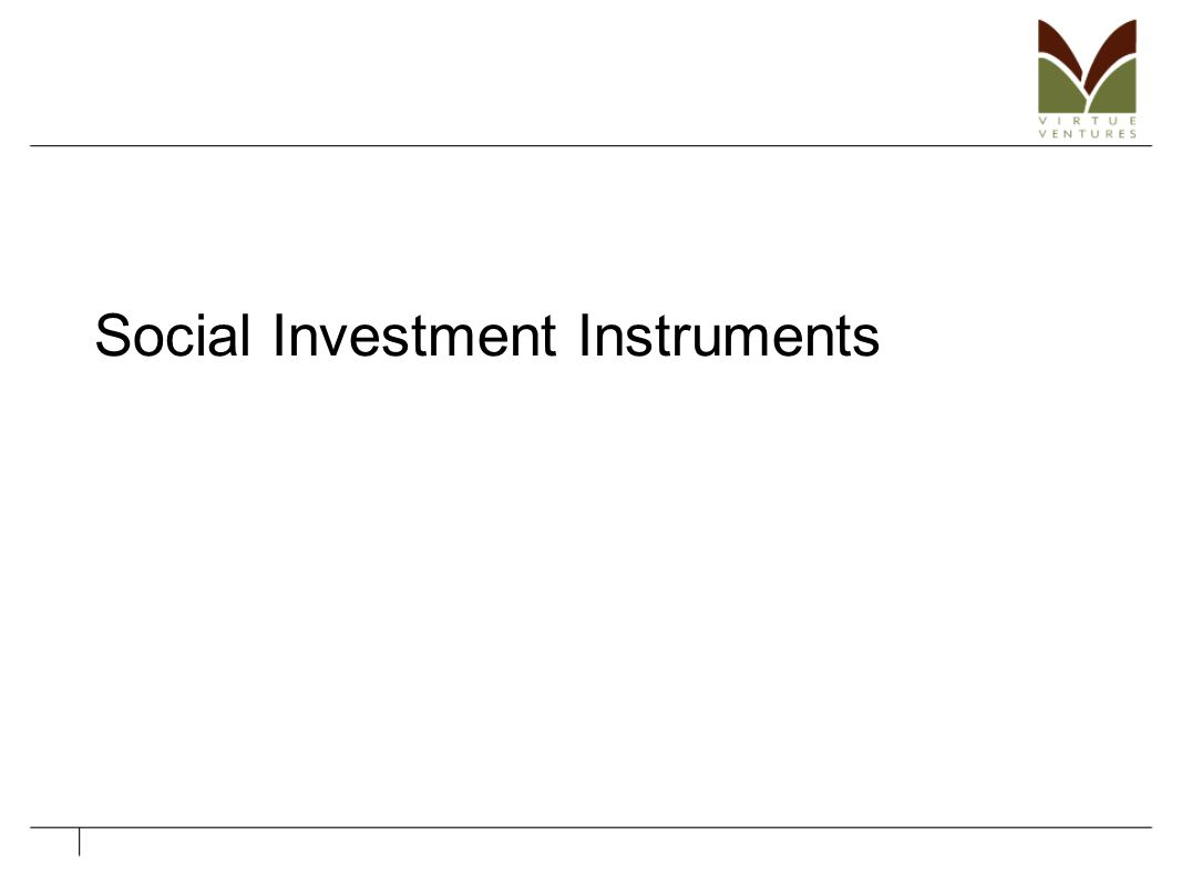 Social Investment Instruments