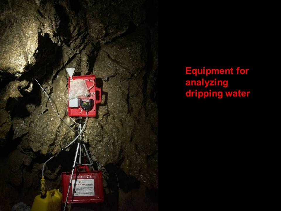 Equipment for analyzing dripping water