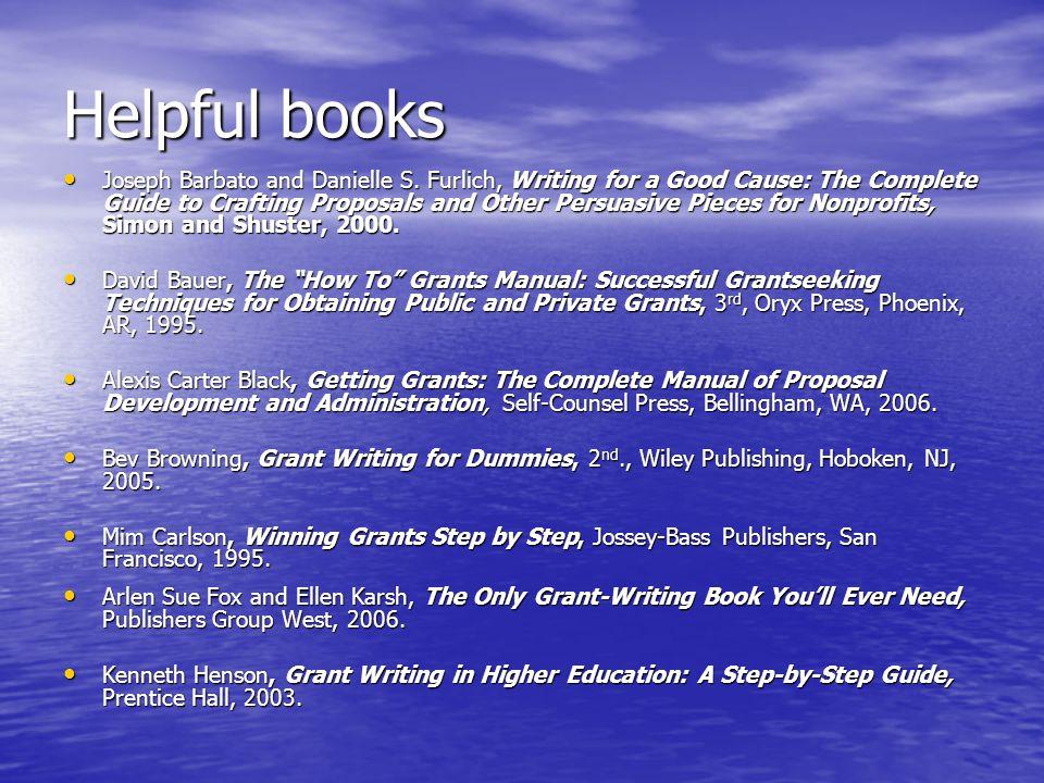 Helpful books Joseph Barbato and Danielle S.