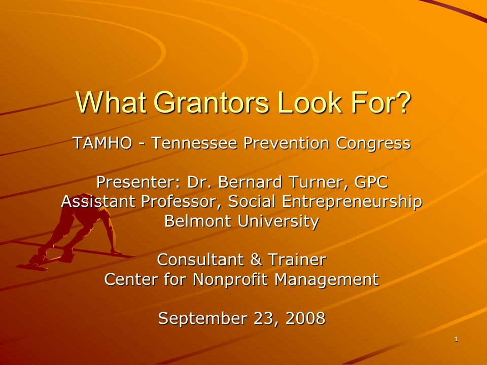 2 Bio – Dr.Bernard Turner, GPC Nearly 20 years of grant writing experience.