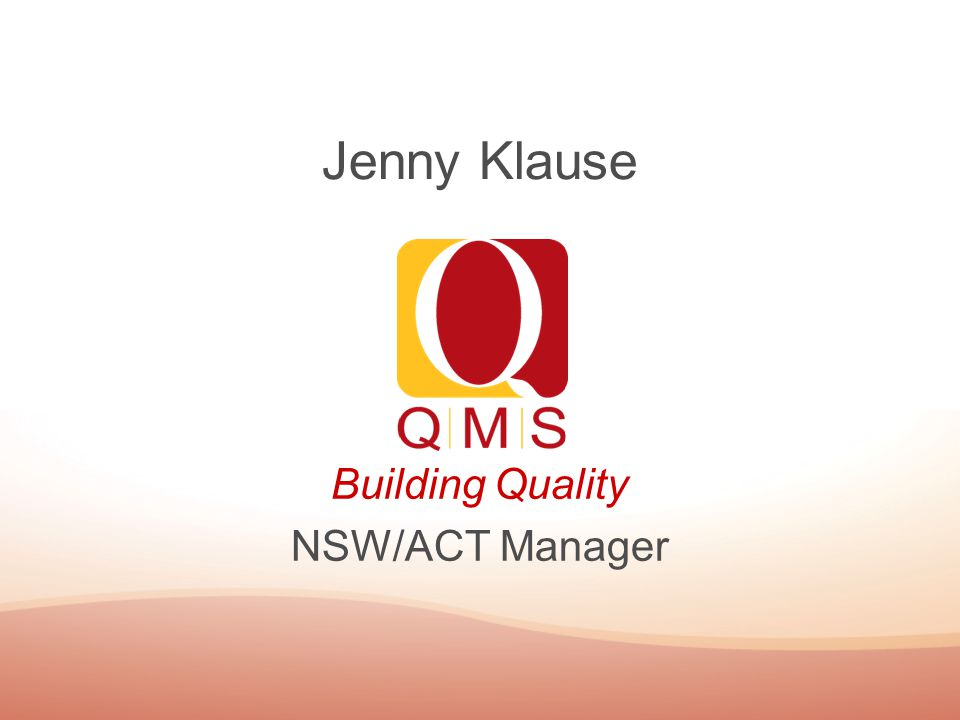 Building Quality NSW/ACT Manager Jenny Klause