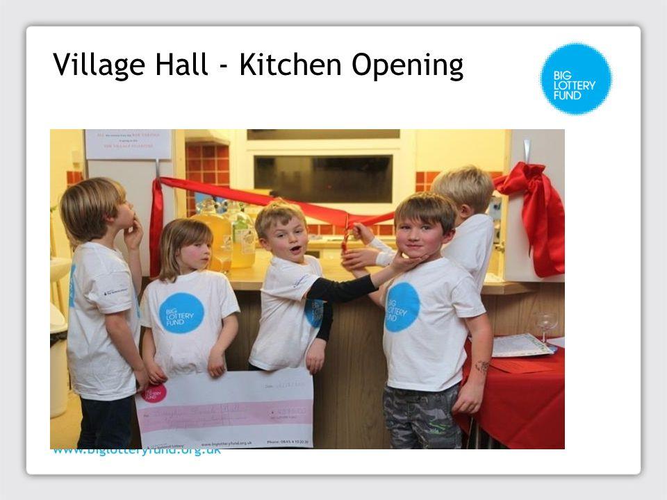 Village Hall - Kitchen Opening