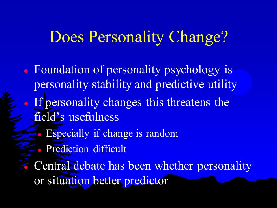 Does Personality Change.