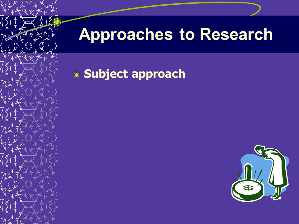 Approaches to Research Subject approach