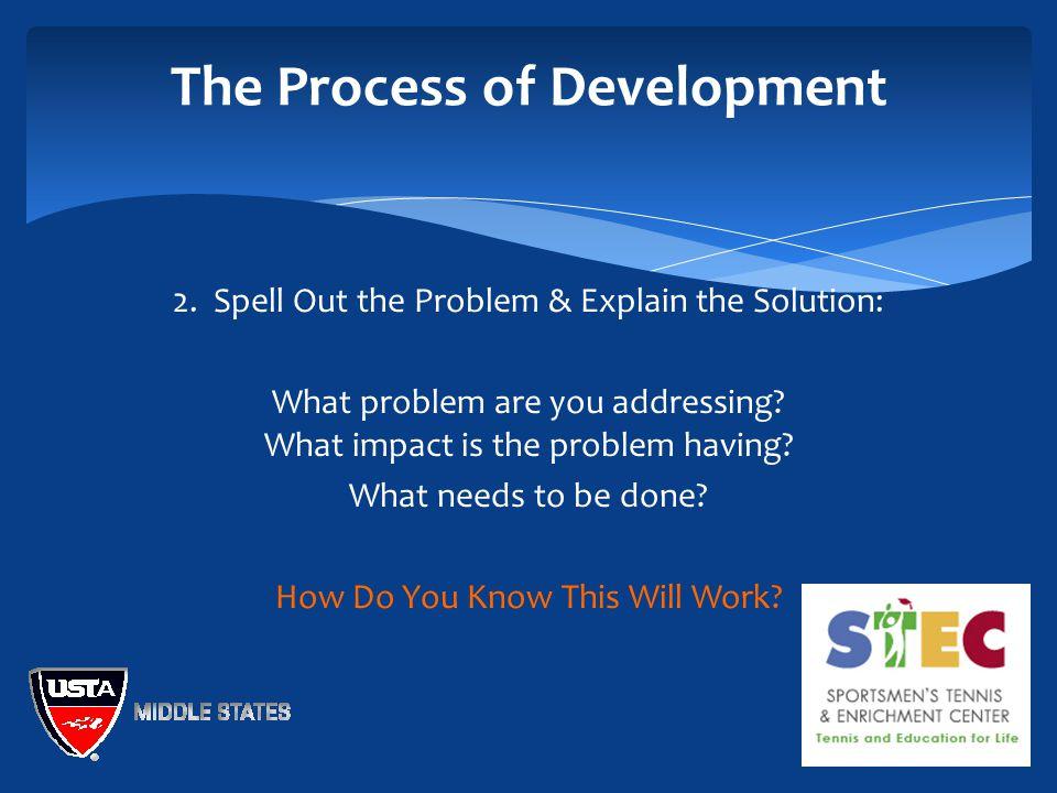 The Process of Development 2.