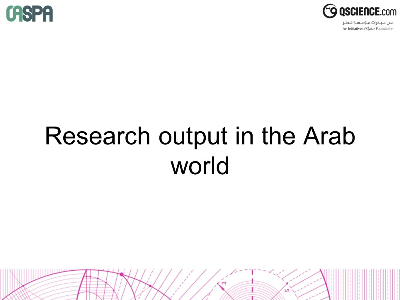 Research output in the Arab world