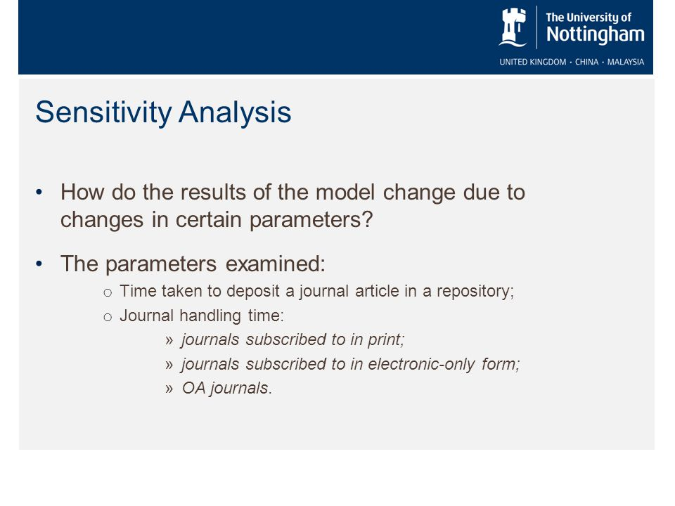How do the results of the model change due to changes in certain parameters.
