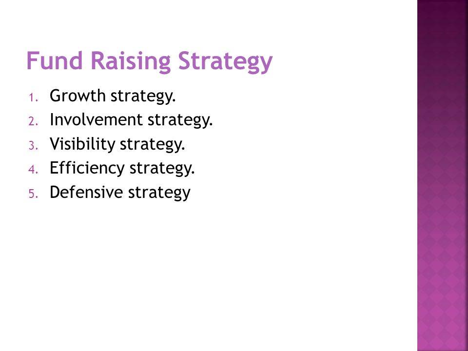 1. Growth strategy. 2. Involvement strategy. 3.