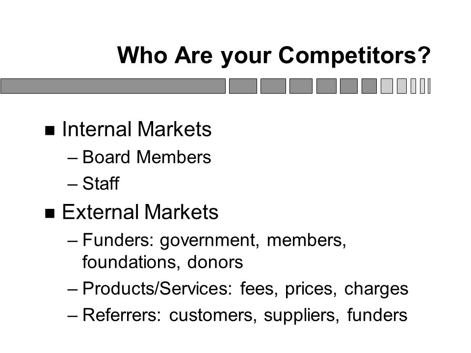 Who Are your Competitors.