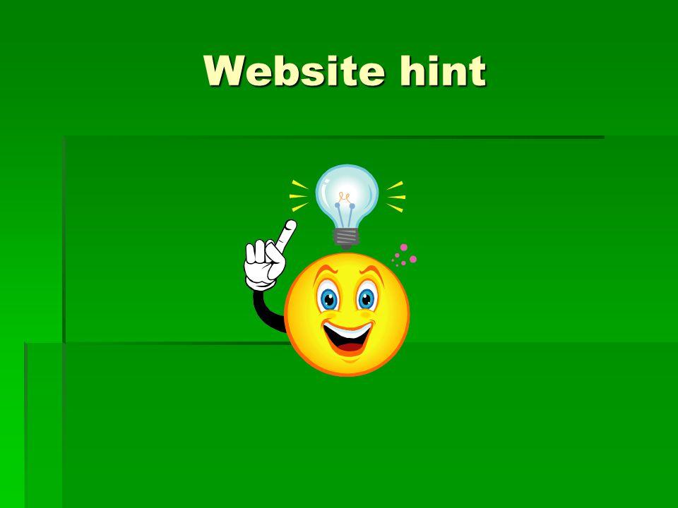 Website hint