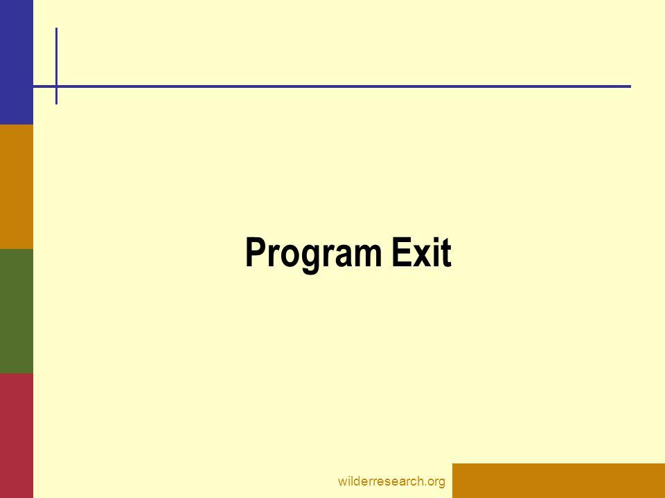 Program Exit