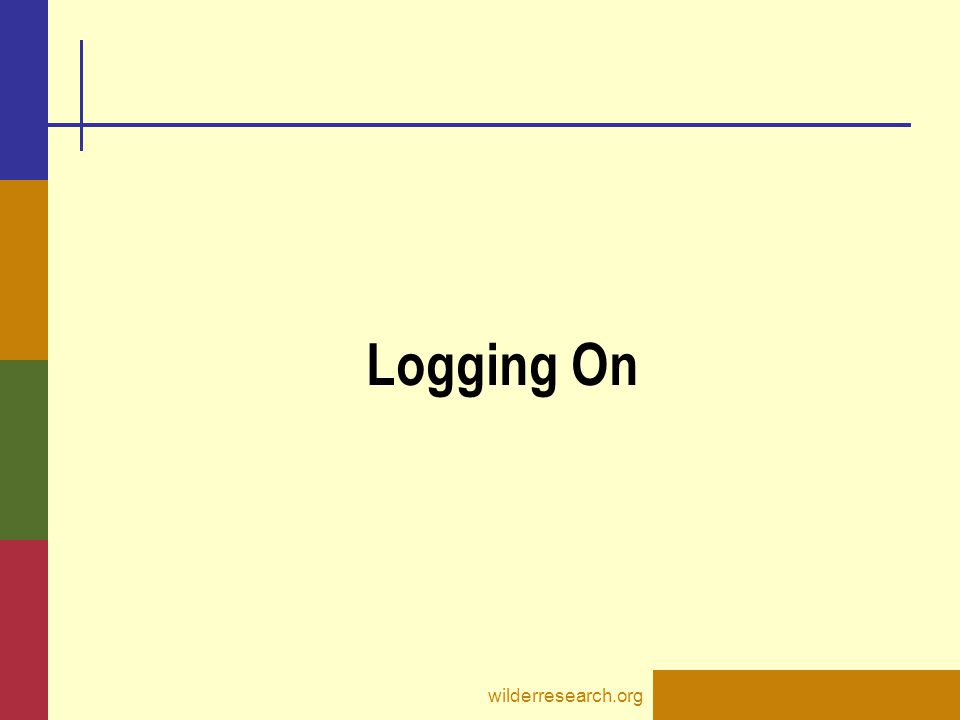 Logging On