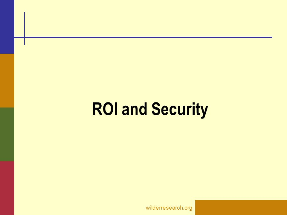 ROI and Security