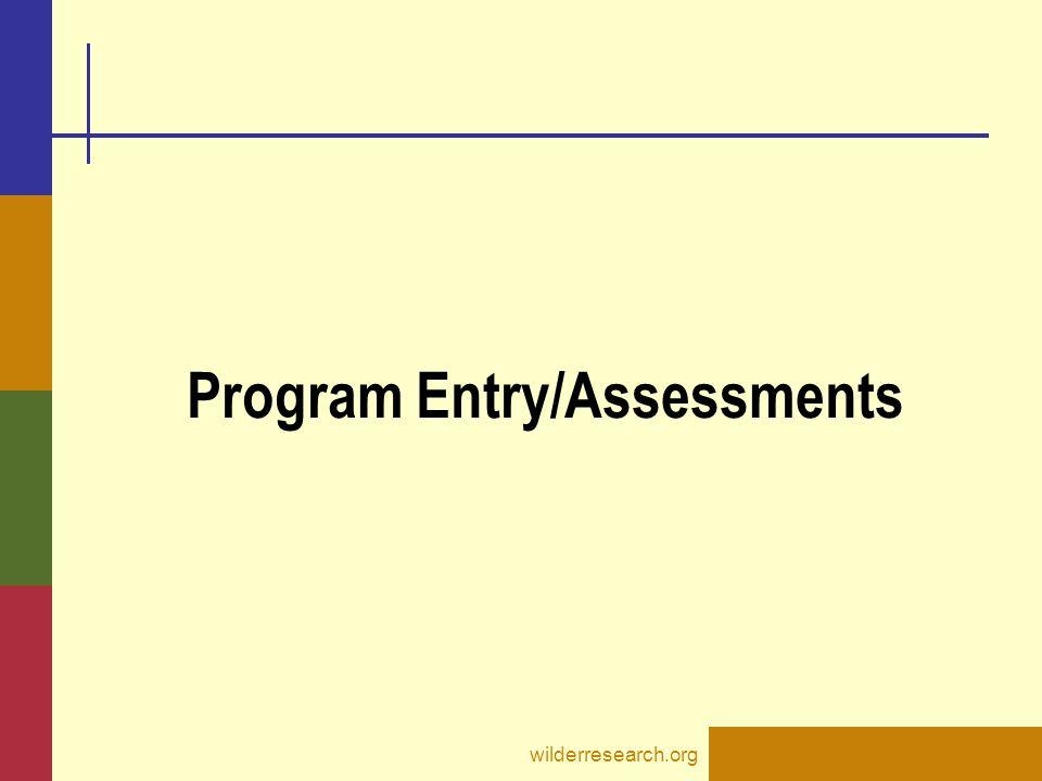 Program Entry/Assessments