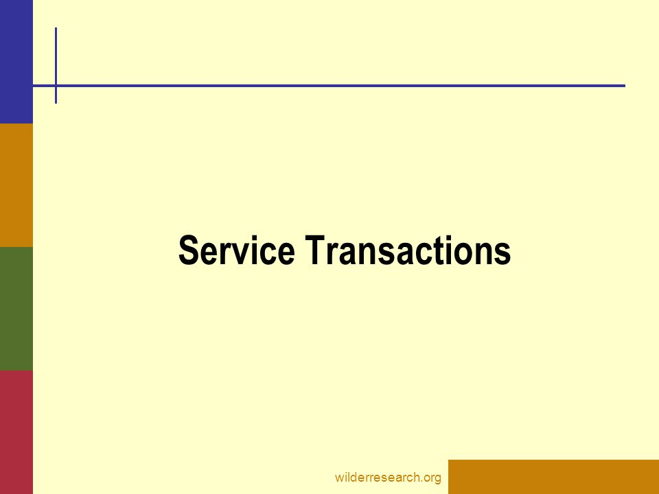 Service Transactions