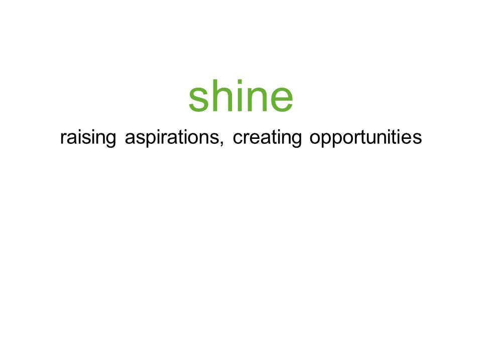 shine raising aspirations, creating opportunities