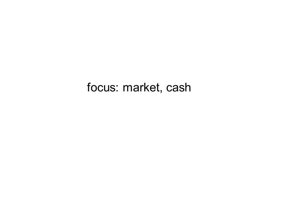 focus: market, cash