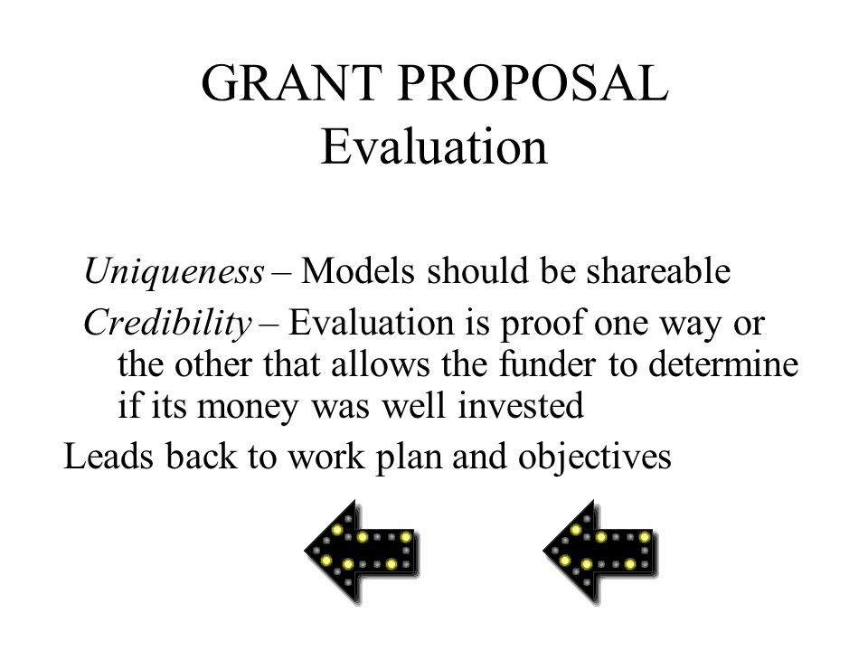GRANT PROPOSAL Evaluation 7.