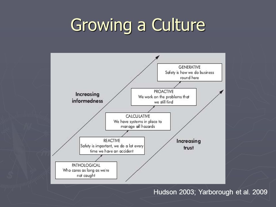 Growing a Culture Hudson 2003; Yarborough et al. 2009