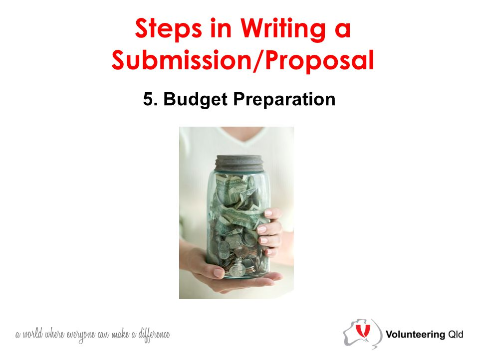 5. Budget Preparation Steps in Writing a Submission/Proposal