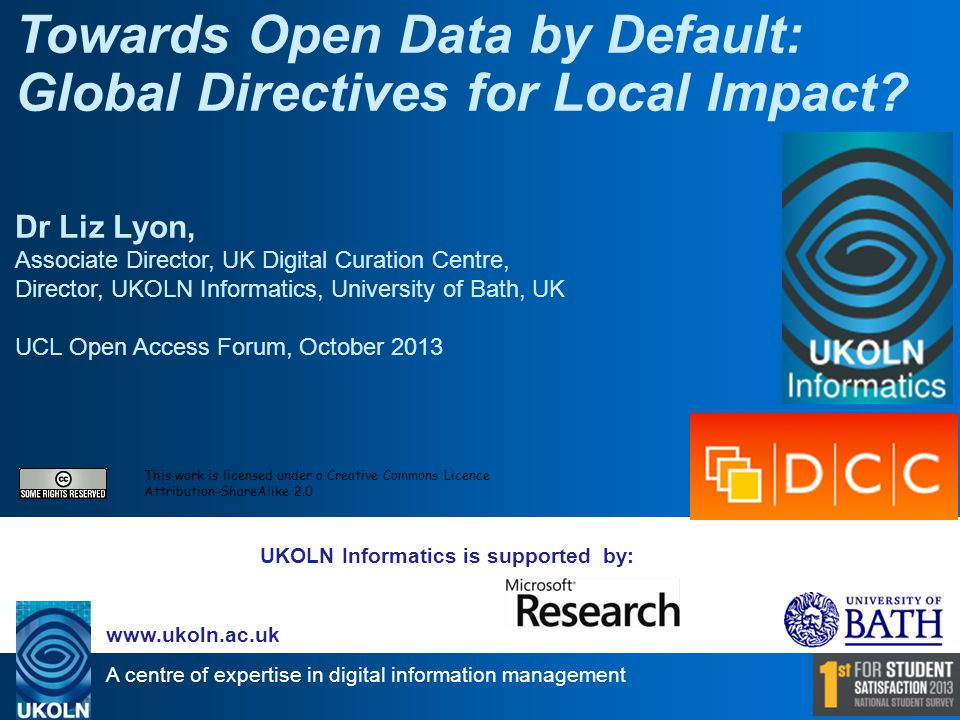 Endorses OA Open Data Charter Policy Paper 18 June 2013 G8