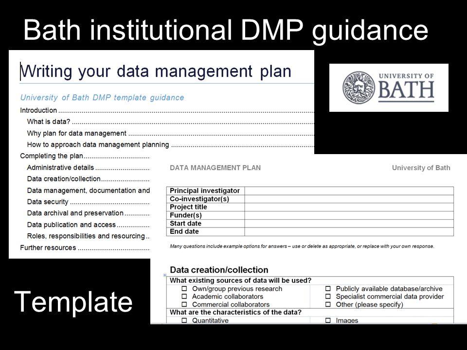 Bath institutional DMP guidance Template