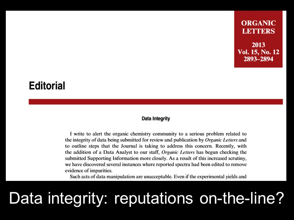 Data integrity: reputations on-the-line