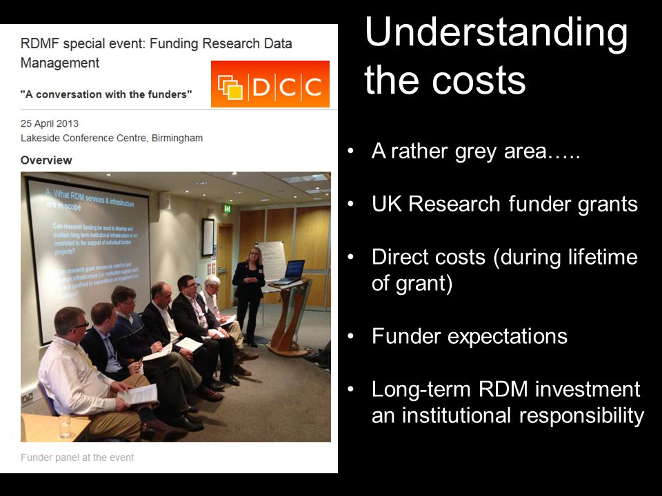 Understanding the costs A rather grey area…..